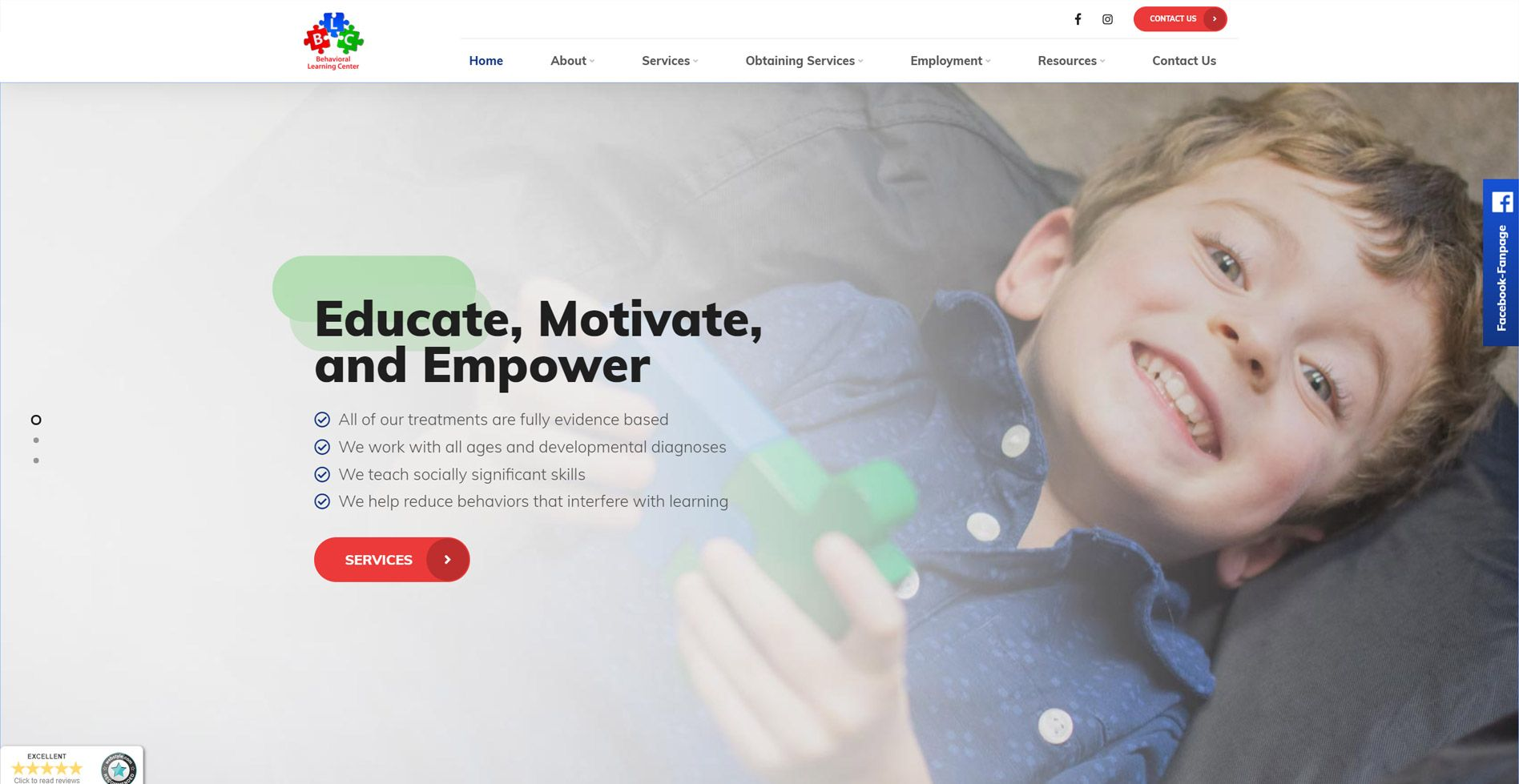 Behavioral Learning Center, Inc. Website