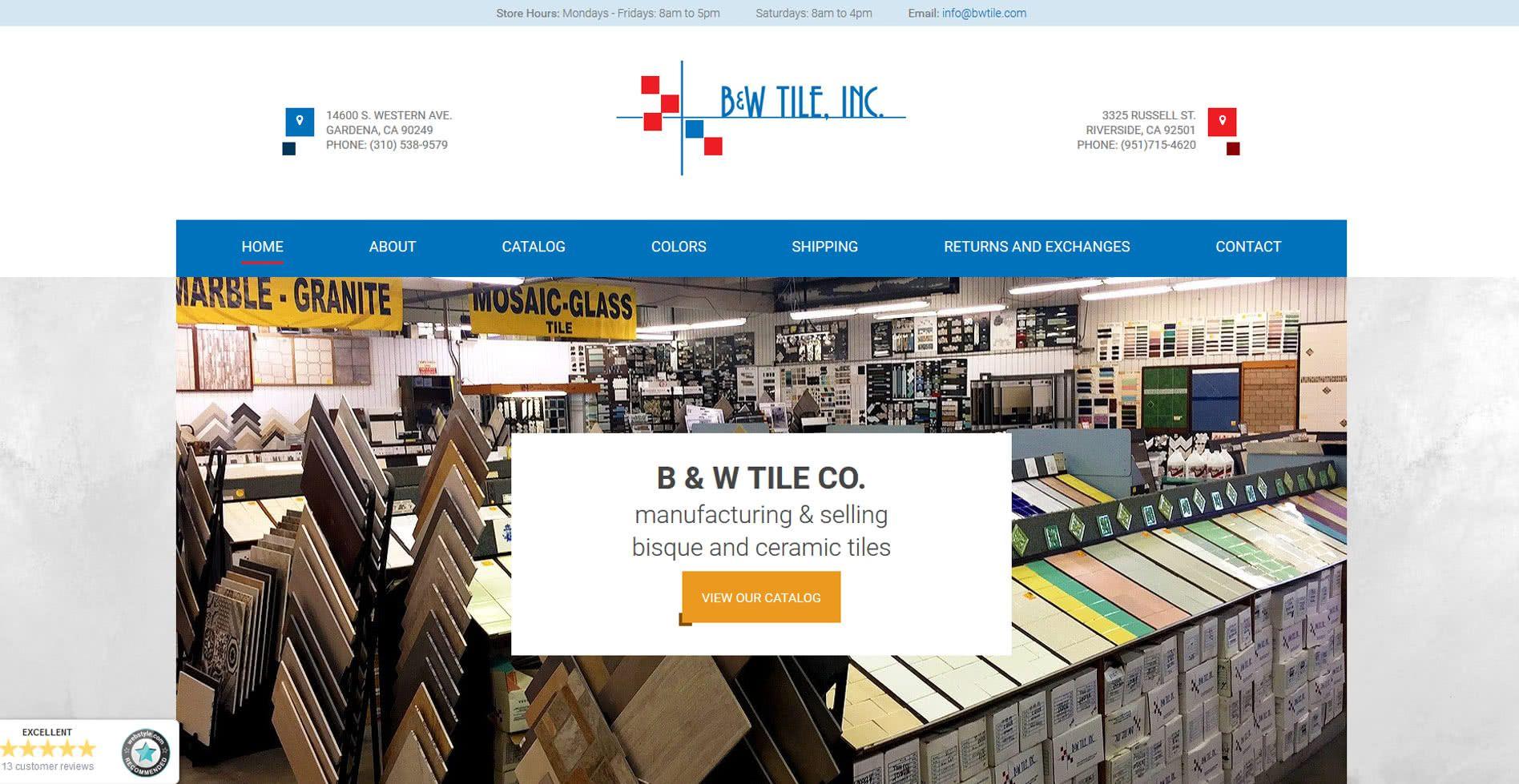 Bwtile Website
