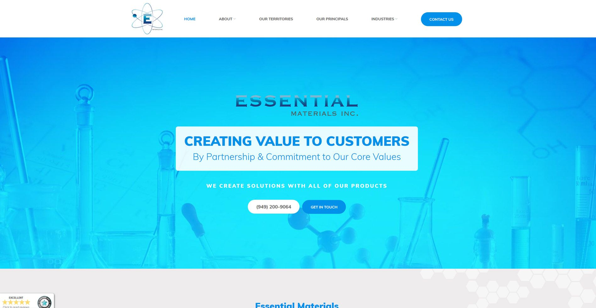 Essential Materials Website