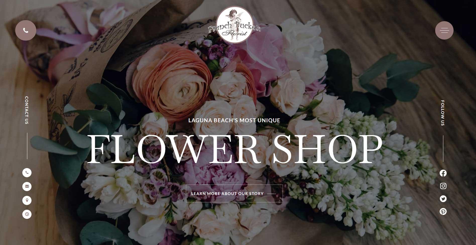 French Buckets Florist Website