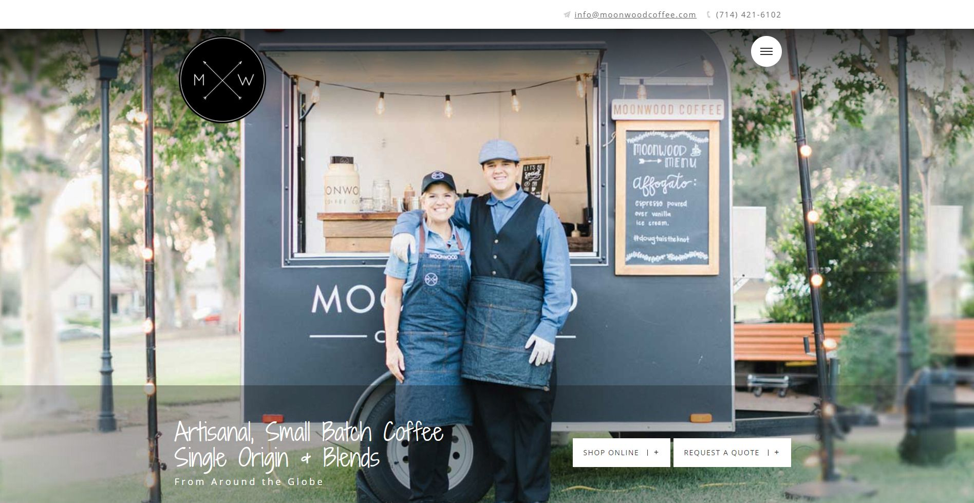 Moonwood Coffee Website