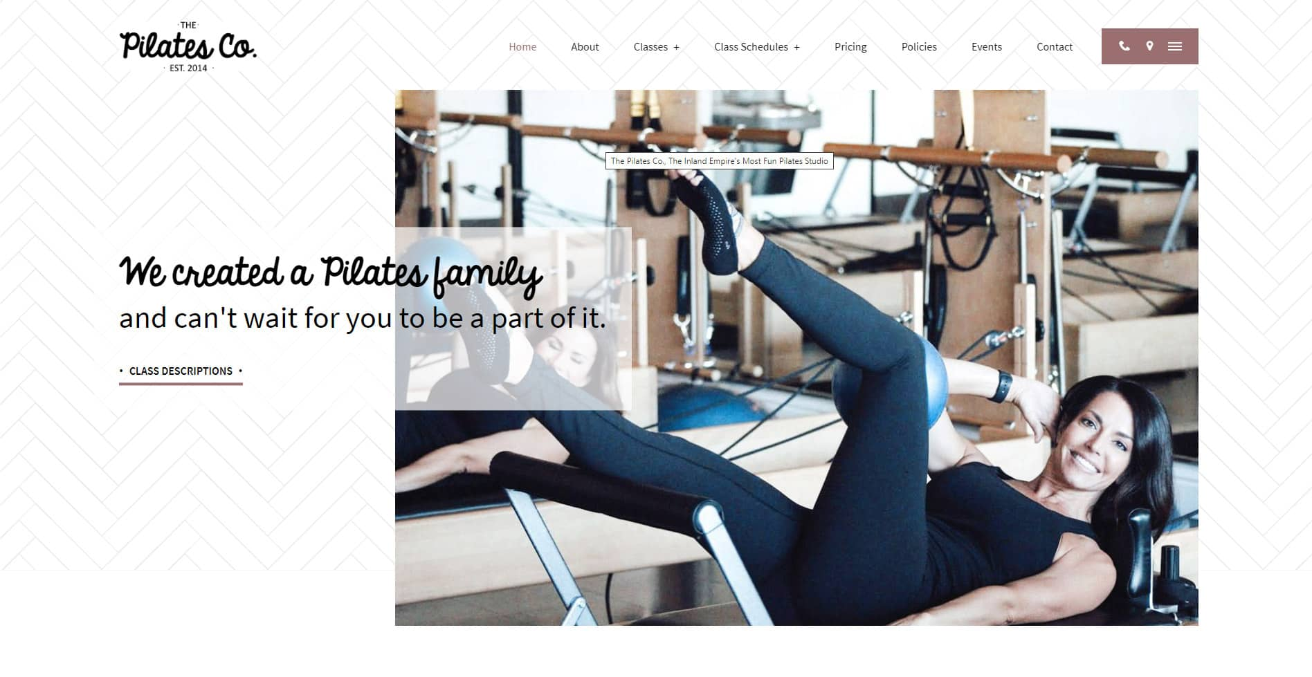 The Pilates Co. Corona Website