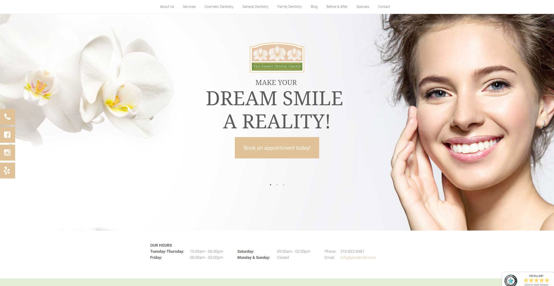 Yeo Family Dental Group Website